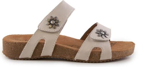 Josef Seibel - Dámské páskové sandály s kovovými kytičkami na suchý zip  šíře G Tonga 04 83f8f7996c