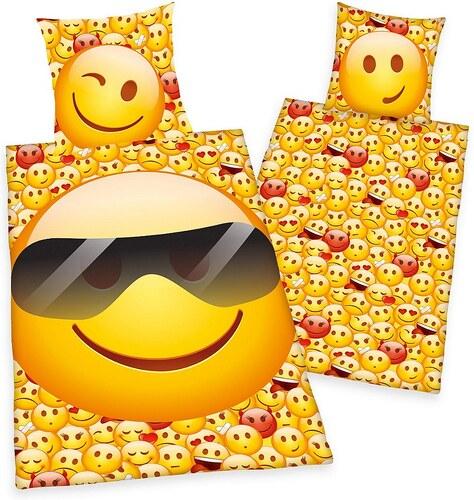 Jugendbettwäsche, Emot!x, »Sonnenbrille«, mit cooler Sonnenbrille