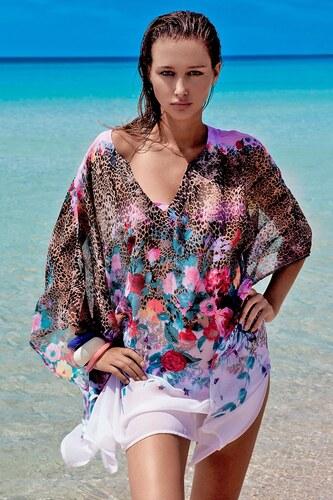 6b42f6509a8 Vacanze Dámské luxusní italské plážové šaty Paola barevná uni - Glami.cz