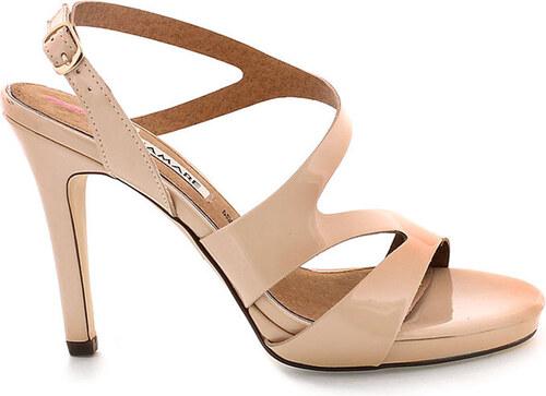 Béžové sandály na podpatku MARIA MARE - Glami.cz a1aea01d8e