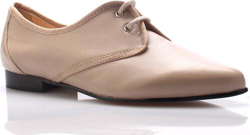 1082cc6a881 Béžové kožené boty se špičkou Maria Jaén - Glami.cz