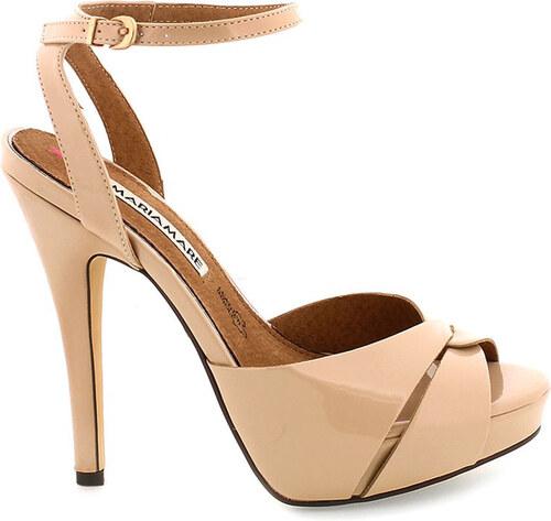 Béžové sandály na vysokém podpatku MARIA MARE - Glami.cz a858b695c5