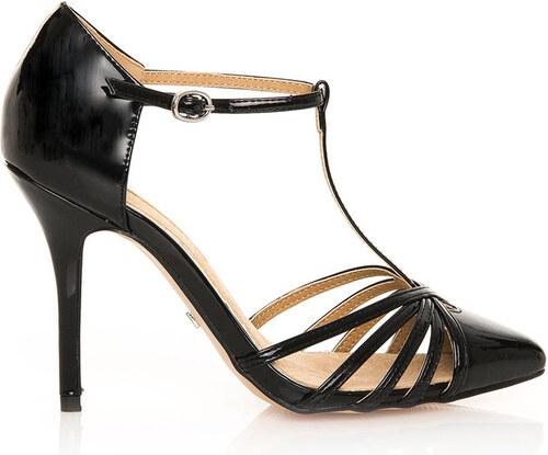 5b297be464 Černé sandály na jehlovém podpatku MARIA MARE - Glami.cz