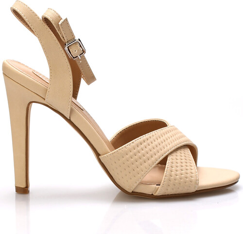 Béžové sandály na podpatku Trendy too - Glami.cz ad6b05afa4