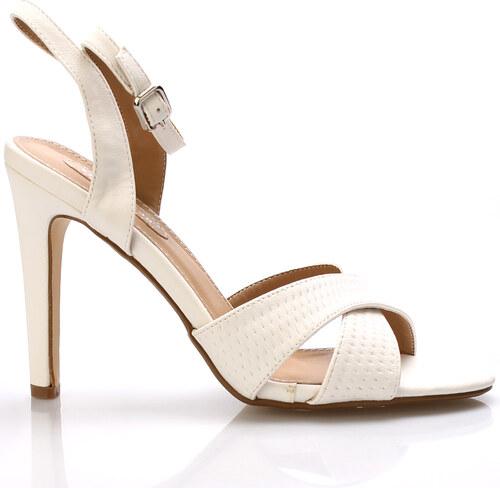 Bílé sandály na podpatku Trendy too - Glami.cz 51d7c99051