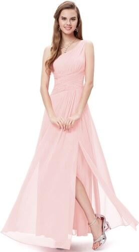 Ever Pretty Dlouhé šaty šifonové jemně růžové letní i společenské 9905 S 0adbcc6215