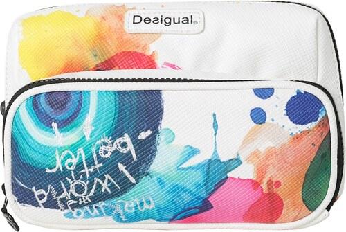 4d8c310ec kosmetická taška Desigual 61Y56B2/Pockets Stroker - 1000/Blanco ...