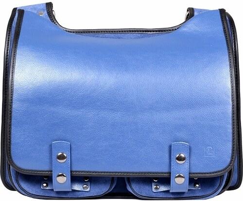 Kabelkový Slon Kožená taška BOOKCASE modrá - Glami.cz 55943d6420a