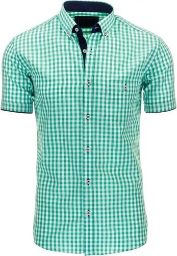 Zelená kostkovaná košile s černým lemem - Glami.cz 3c95f161e1