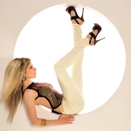 Dámské smetanově bílé kalhoty