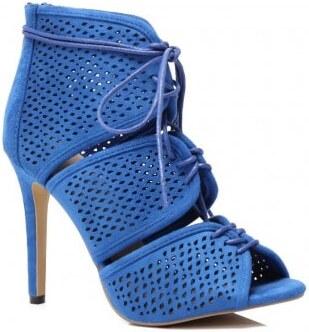 d685cebddbe5 Vzorované sandále v modrej farbe na ihličkovom podpätku - Glami.sk