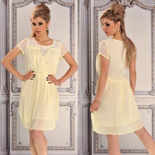 Žluté lehké letní šaty - Glami.cz f55b3a30a6