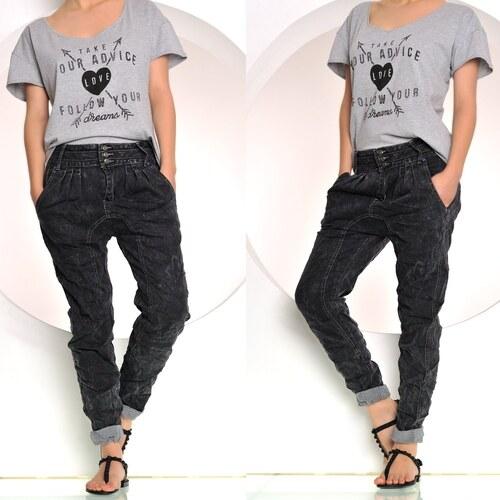 Černé džíny se sníženým sedem - Glami.cz ff8bfd6990