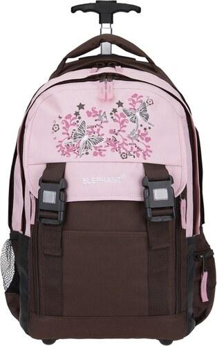 Elephant školní batoh na kolečkách 11798 růžová   hnědá - Glami.cz 7b24b368cf