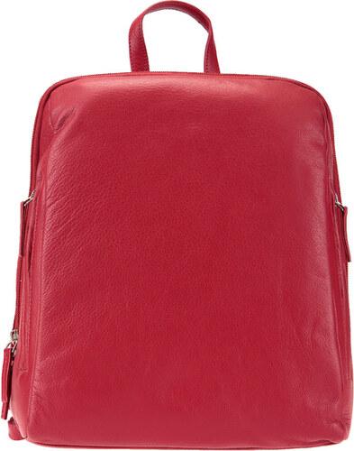 dc4573c8991 ESTELLE Dámský kožený batoh 0610 červený - Glami.cz