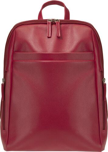 1d2940d51ed ESTELLE Kožený batoh na formát A4 0965 červený - Glami.cz