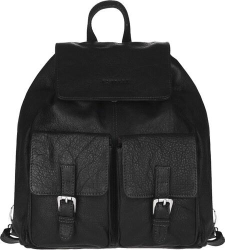 81346821c33 ESTELLE Kožený batoh s kapsami 0352-06 černý - Glami.cz