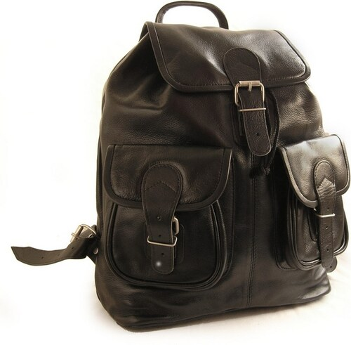 Hamosons Kožený batoh z hovězí kůže 559 černý - Glami.cz 636075cfc7