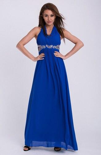 6e968dfe36a3 YNS Dámské dlouhé plesové společenské šaty PINK BOOM modré - Glami.cz