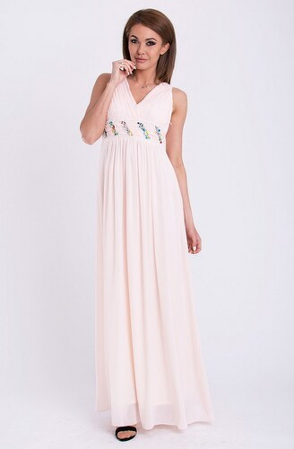 ffce829b213 YNS Dámské dlouhé plesové společenské šaty PINK BOOM prášková růžová ...