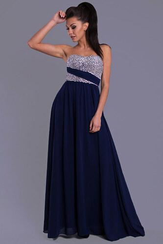 Dámské společenské plesové šaty EVA LOLA tmavě modré - Glami.cz 571062a63d