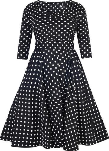 d09d8b31484c Dámské retro šaty Lady Vintage Maria černé s puntíky - Glami.cz
