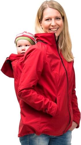 448f0b5546d Mamalila softshell těhotenská a nosící bunda pro dva do každého počasí  (Sympa Tex) červená