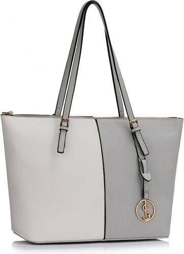 LS fashion dámská kabelka přes rameno LS00476 šedá-bílá - Glami.cz 3f615db58e