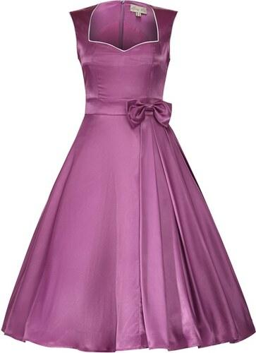 64a1b522a0b Retro šaty Lindy Bop Gracie May fialové velikosti  42 - Glami.cz