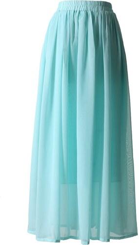 289497efc15 CHICWISH Dámská sukně Maxi Candy Chiffon Mentolová - Glami.cz