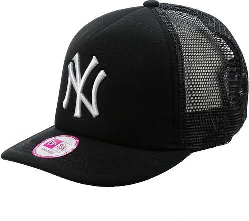 69afa210901 kšiltovka New Era Clean Trucker MLB New York Yankees - Black White ...