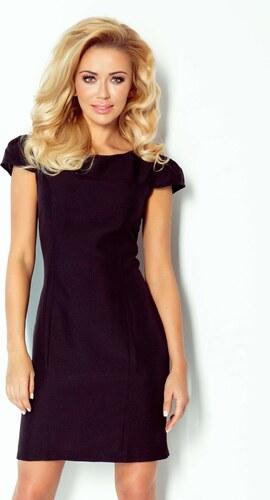 e783eaf345 Dámské společenské a značkové šaty NUMOCO s krátkým rukávem černé ...