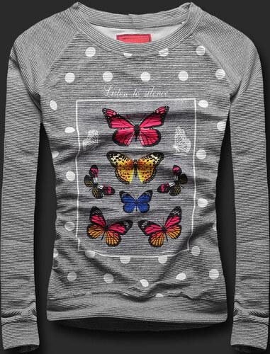 Sweatshirt grau BUTTERFLY 129CT