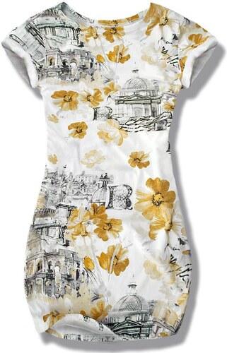 Kleid Blumen gelb 8365