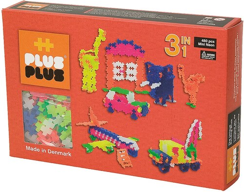Plus - Plus Bausteine, »Mini Neon 480 3in1 Set«