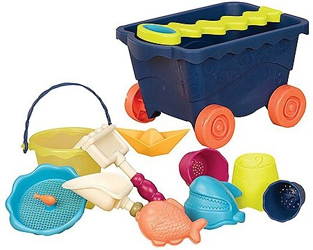 B.toys Sandspielzeug Set, »Travel Beach Wagon, Navy«