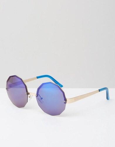 e2d903d2c7610b Jeepers Peepers - Lunettes de soleil rondes et hexagonales avec verres  effet miroir - Bleu - Bleu