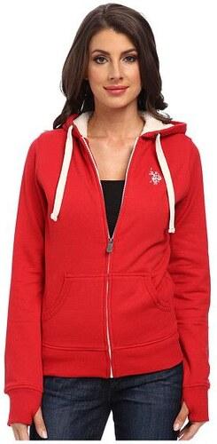 U.S. Polo Assn. U.S. Polo Assn dámská mikina Solid Fleece Hooded ... 85915b2245