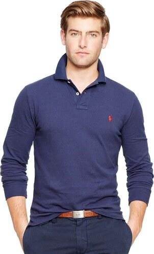 Ralph Lauren pánské polo tričko s dlouhým rukávem Custom Fit Long ... 29e155dbe8