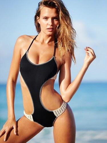 bb34afd5f Victoria's Secret dámské plavky Surf Crochet - Glami.cz