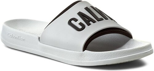 be47944c04 Nazouváky CALVIN KLEIN PLATINUM - Intense Power Slide K9UK014044-100  White Black 100