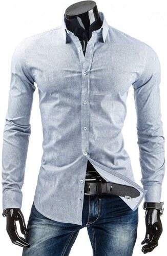 1e15d7f1452 Světle modrá pánská košile s bílými puntíky - Glami.cz