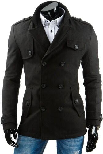 Luxusné čierny pánsky kabát - Glami.sk 8008fff705e