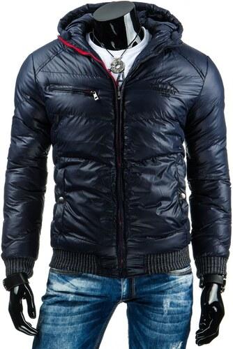 Luxusní pánská zimní bunda tmavě modrá - Glami.cz ad61728de46