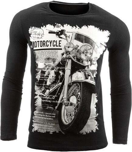 Motorkářské tričko s dlouhým rukávem černé - Glami.cz 30bd4eb239