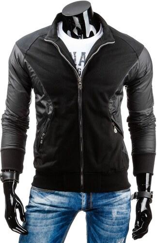 Čierna pánska mikina so štýlovým dizajnom - Glami.sk e92cb6b7292