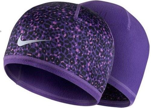 NIKE2 Dámská čepice Nike Run Lotus UNIVERZÁLNÍ FIALOVÁ - STŘÍBRNÁ ... 17f9e26df3