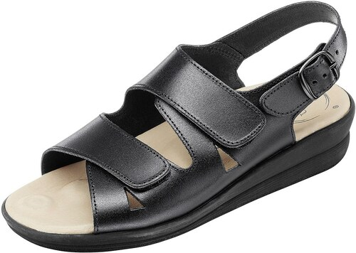 Große Größen: Sandalette, schwarz, Gr.36-42