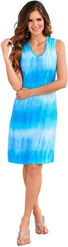 Große Größen: Strandkleid, blau-bedruckt, Gr.38-52