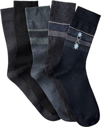 Große Größen: Herren-Socken (5 Paar), 2x anthrazit, 1x schwarz, 1x marine, 1x jeansblau, Gr.39-42-43-46